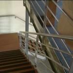 Escalier en acier peint